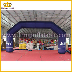 Good Quality TIGO Blue Used Inflatable Arch Door, Cheap Inflatable Arch For Sale
