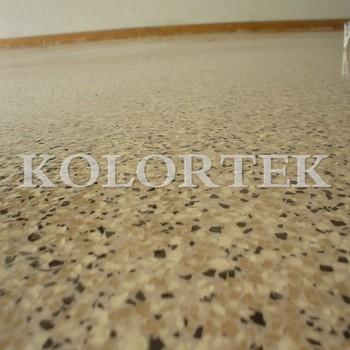 Epoxy paint chips mica flakes in epoxy floors metallic - Metallic farbe wand ...