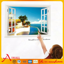 822-y 3D Sea Scenery Wall Stickers Window Decals For Reception Room Art