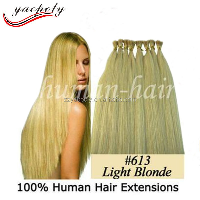 Hot sale silky straight stick 0.5g 0.8g 1g Virgin Hair I tip hair extensions