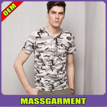 100% Cotton Cheap Blank Military Army T Shirt With Your Logo