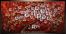 Floral decorate art low price image on canvas handmade latest heavy texture painting
