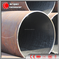 24 inch large diameter steel pipe/API5L manufacture LSAW pipe /gas and oil line pipe