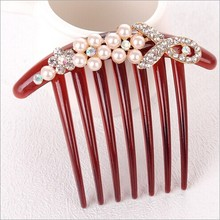 Han edition high-grade pearl diamond wholesale 2016 new bride go seven comb tine combs