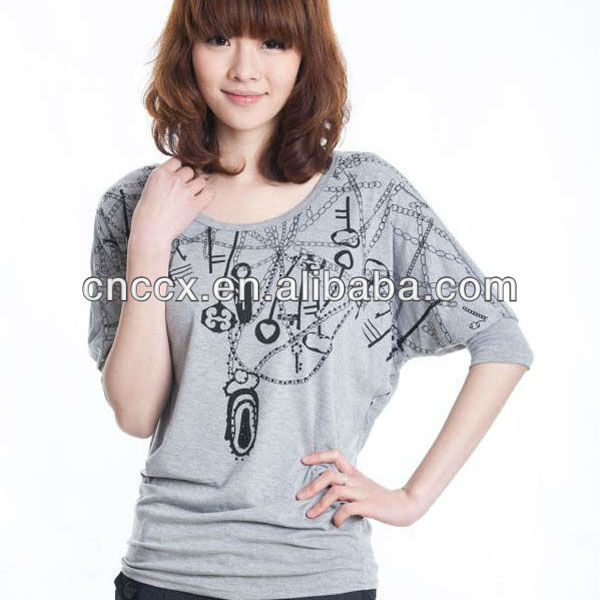 13TS5023 fashion ladies T-shirt