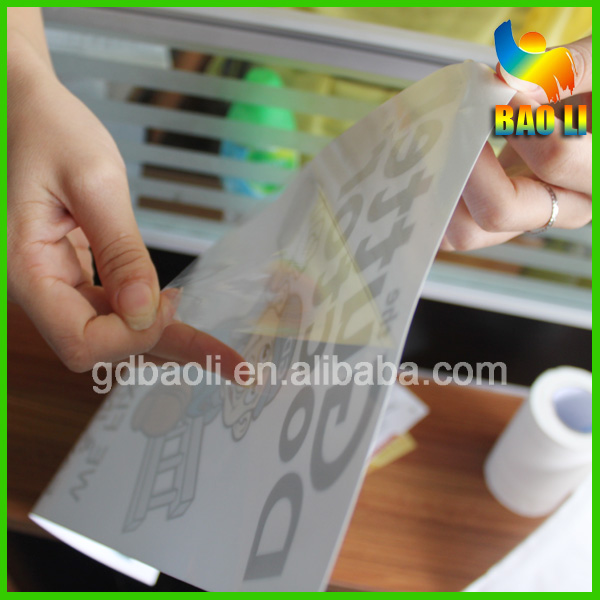 High quality wholesale custom clear vinyl sticker