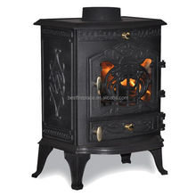 Smokeless multi fuel cast iron stove parts Baroque indoor heating fireplace