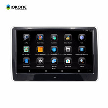 IOKONE new product 10 .6 inch car headrest android tablet monitor with SD USB bluetooth