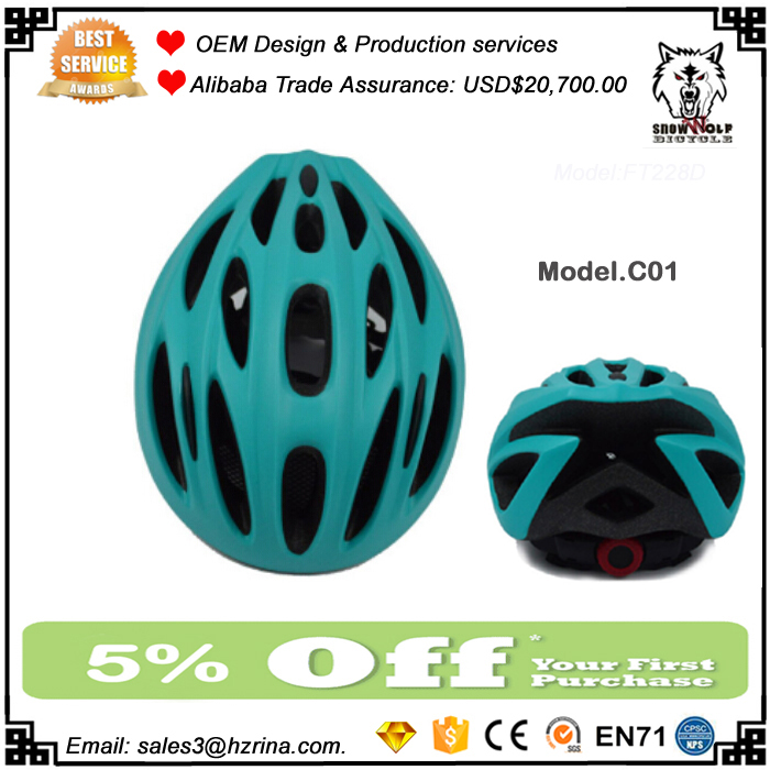 Men Women Bicycle Helmet With Injection Molded ABS Thermoplastic Shell Mountain Bike Helmets