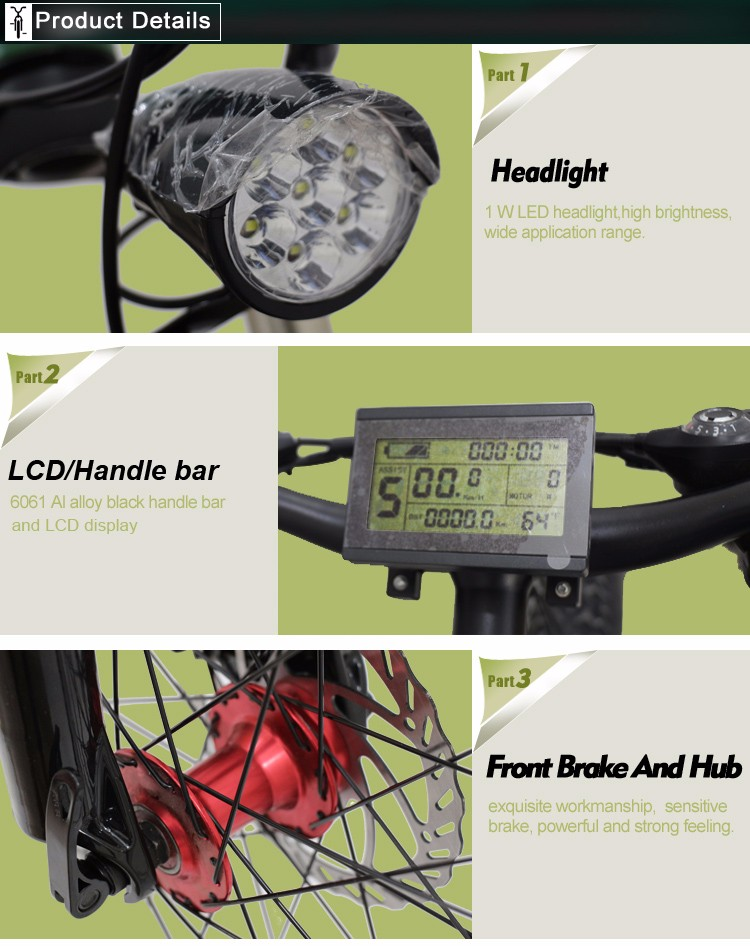 "26"" 36V folding mountain electric bike"