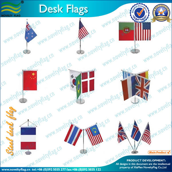 Alumium pole/wooden flag pole and stand table flag