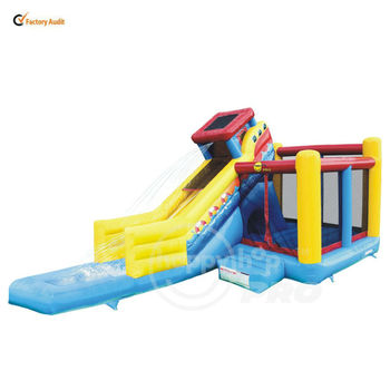 Swiftech Happyhop Pro Wet and Dry Slide-1020P Sailing Slide Bouncer with Detachable Pool