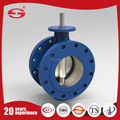 Standard or Nonstandard actuated Double Eccentric Double Flange stainless steel flange ring butterfly valve made in china