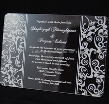 the acrylic with pattern print tamil wedding invitation cards