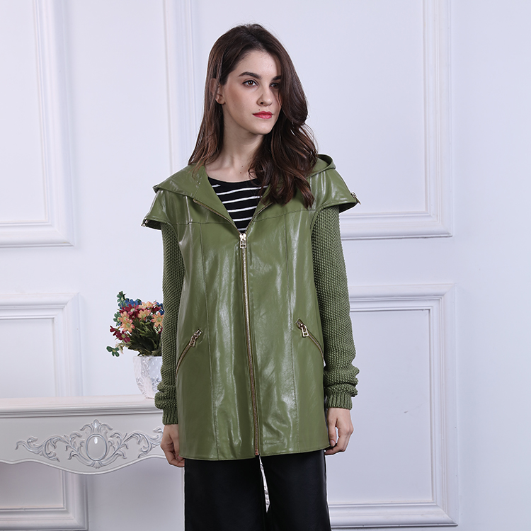 women clothing 2017 Fashion Leather Ladies Jacket Factory Price