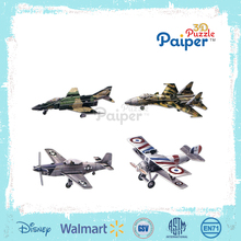 Hot sale paper 3d puzzle diy model airplane