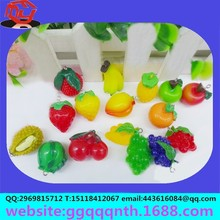 keychain necklace pendant hair accessories plastic resin fruit Strawberries, apples, oranges, bananas, pineapple, grapes, durian