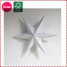 Star Paper Decoration Wedding Materials as New Year Gift
