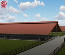CE standard economical cost steel structure prefabricated dairy farm/Cow Sheds/Cattle Housing
