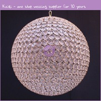 k7925 Glass material round crystal ball chandelier