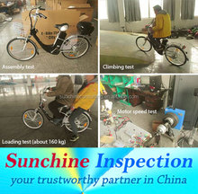 Electric Bicycle Shipments Inspection / Efficient QC Team / Third Party Inspection / Ensure Product Safety and Reliability