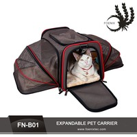 Pet Factory Pet Carriers For Dogs 600D Oxford Fabric Expandable Pet Carrier Bag