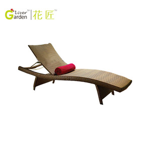 cheap adjustable pool resin funky wicker bali outdoor rattan relax chair