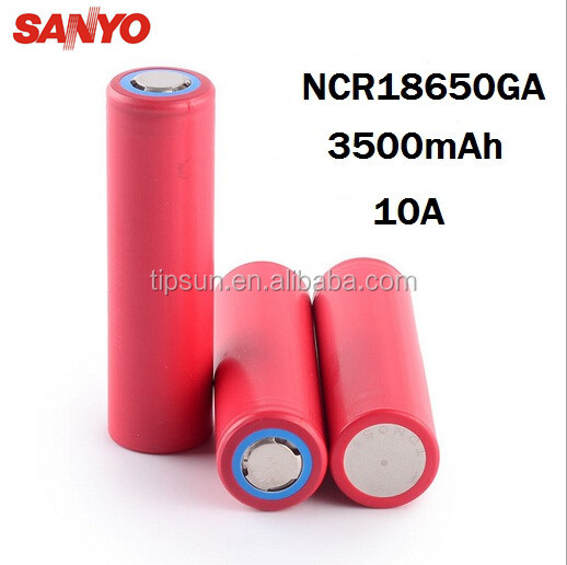 Original SANYO NCR18650GA 3500mAh 10A discharge Li-ion Rechargeable Battery