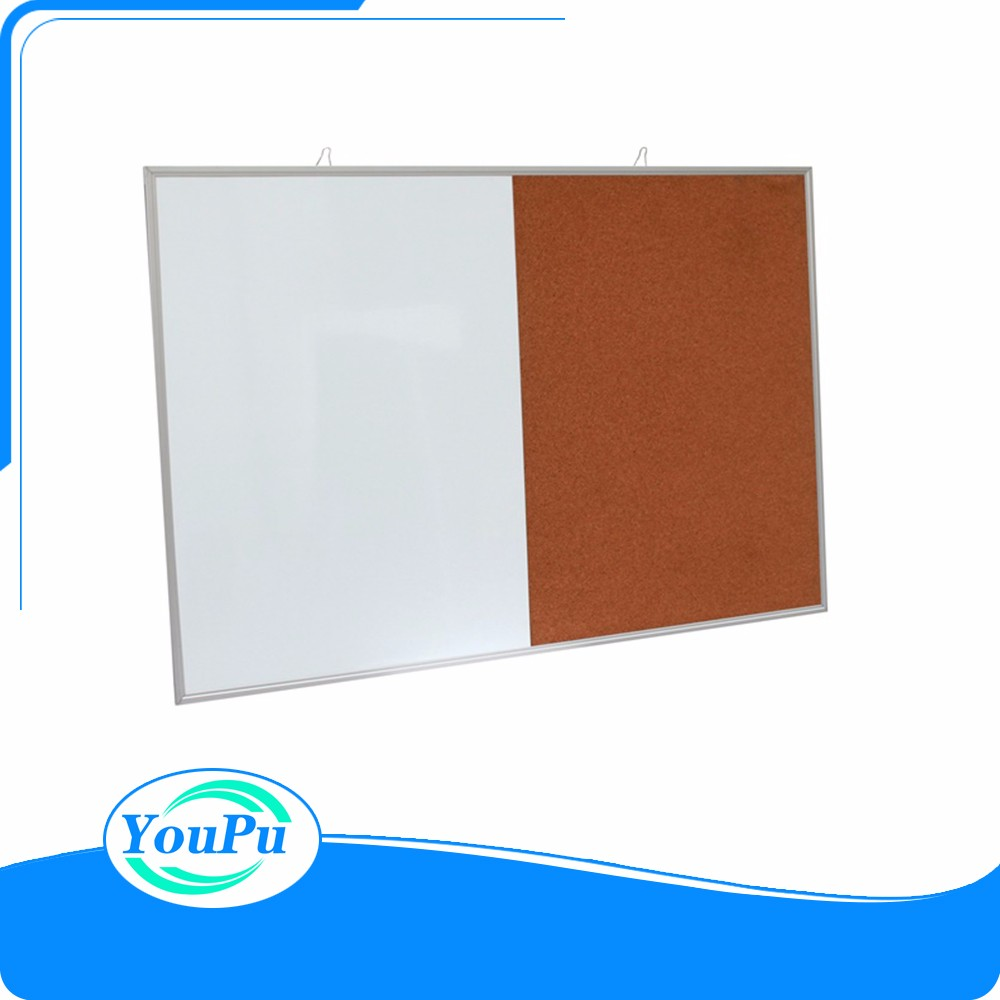 Good Design Aluminum Frame Writing Magnetic White Board and Cork Board Combination