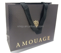 High quality Branded Retail Paper bag With Cotton Ribbon
