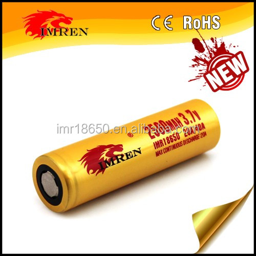 Wholesale lithium ion battery cell 18650 imren 40 amp 18650 imren 18650 2500mAh 40a IMREN 18650 battery