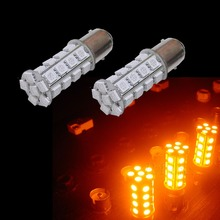 Wholesale 1156 BA15S 5050 30SMD Auto Car Brake Front Rear Turn Signal LED Lamp Light Bulbs For Car Motorcycle Amber Yellow