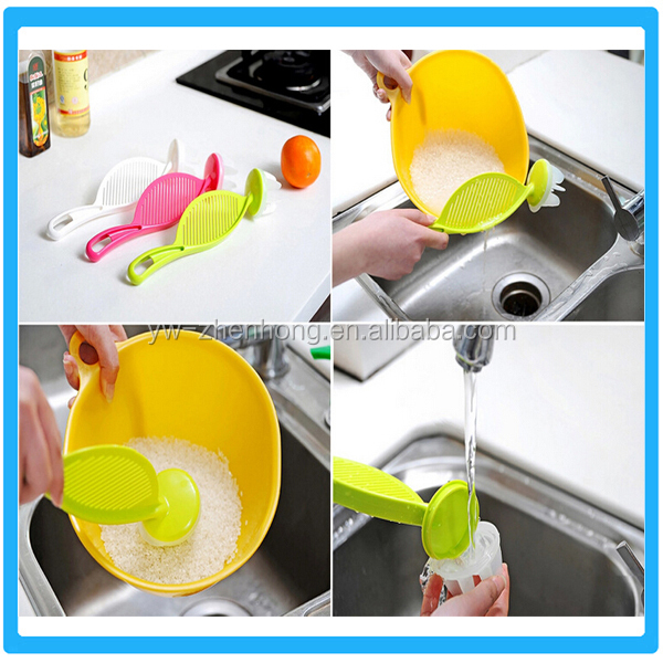 New in Plastic Kitchenwares Promotional Rice Spoon Cheap Rice Draining Spoon