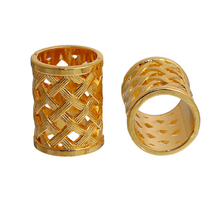 Wholesale Cylinder Gold Plated Zinc Based Alloy Bails For Scarves