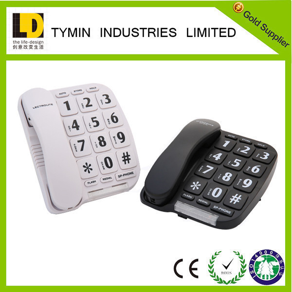 2017 New Arrial big button phone with loud ringers basic function telephone set