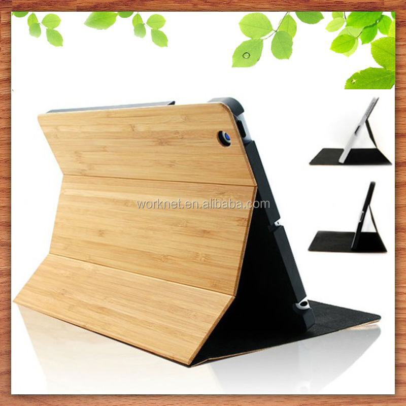 China factory bamboo laptop case cover for ipad mini 4, for ipad mini 4 case wood, wooden flip case for ipad mini 4