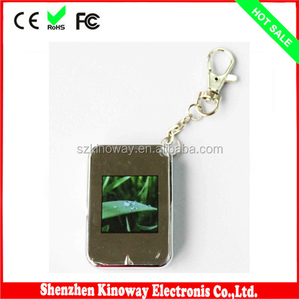 1.5 Inch Mini Digital Photo Frame Keychain Promotiona Gift for Euro Countries