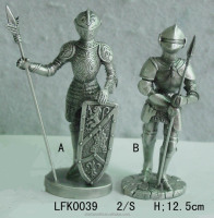 Europe ancient knight warrior with shield and sword souvenir business gift pewter crafts