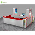 Stylish mobile phone shop display stand wooden cell phone accessories kiosk design