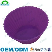 Buy from factory directly homemade muffin silicone cake tin liners