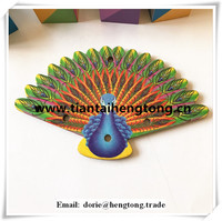 Customized peafowl wooden pieces ,laser cut wooden crafts peacock for sale