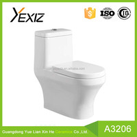 A3206 Good Quality One Piece WC Ceramic Toilet factory