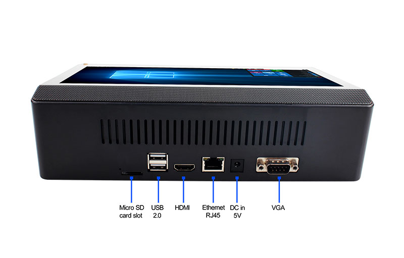 ECDREAM T9 Windows10 Intel Z8350 4GB RAM MINI PC with LCD Touch Screen