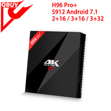 Smart TV Box H96 Pro Plus 3G 32G Amlogic S912 Octa Core Android 6.0 World Best Android KD TV Box