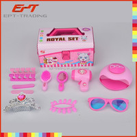 Kids beauty toy with nail art toy, princess crown, beauty salon toy