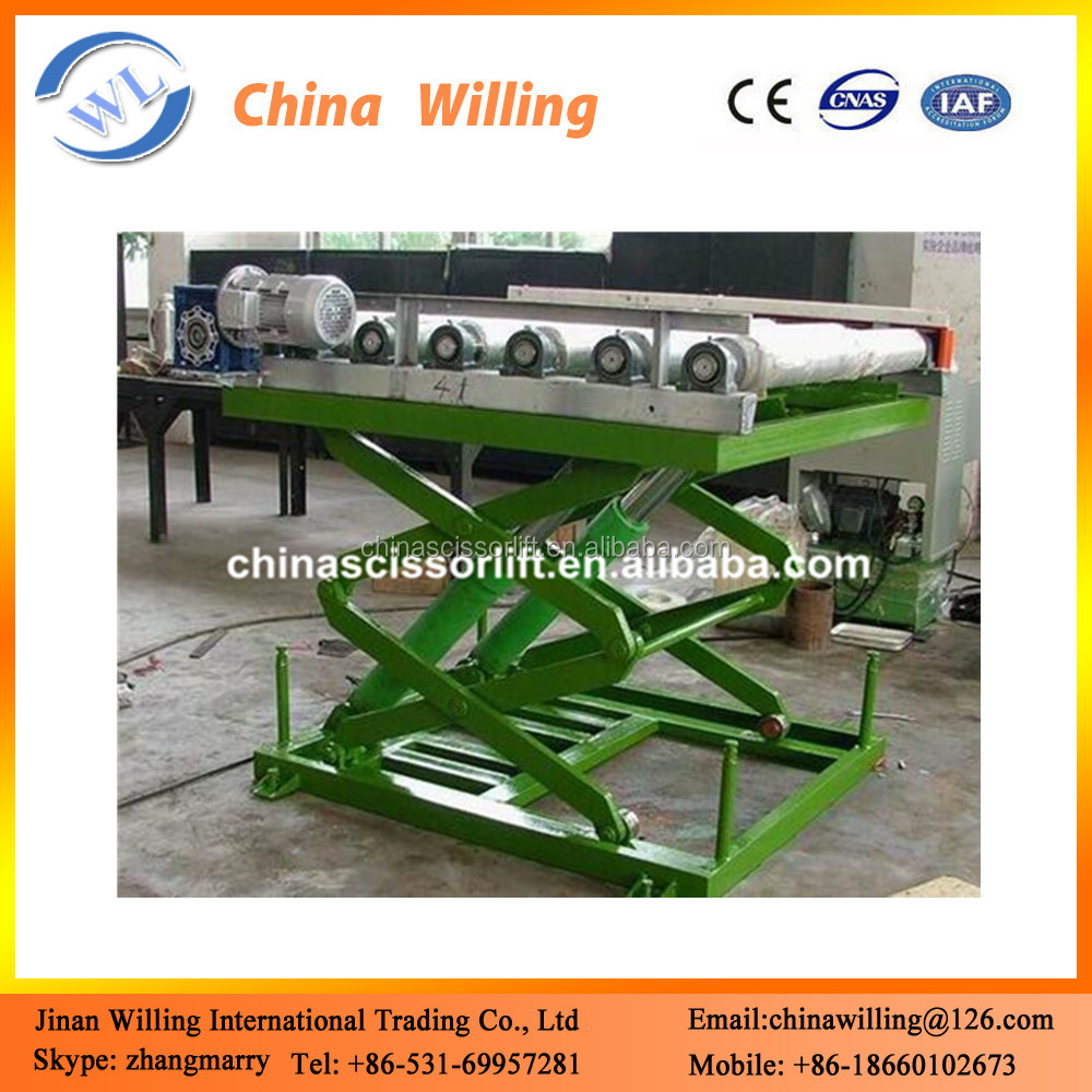 Metal Industry Stationary Hydraulic Lifting Platform with Scissor Lifting Table