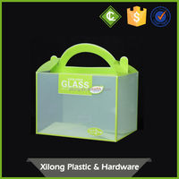 Oem Production Acetate Pp Hard Plastic Gift Cupcake Packing Boxes