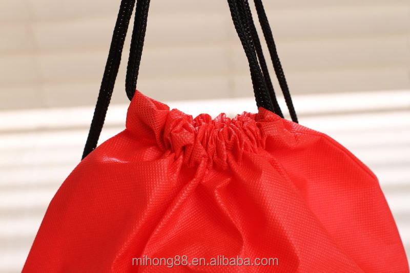 Hot Selling Attractive style 80gsm non woven fabric drawstring bags with good prices