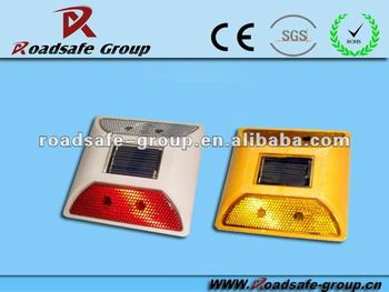 Road Traffic safety Various colour LED Solar plastic Road Stud