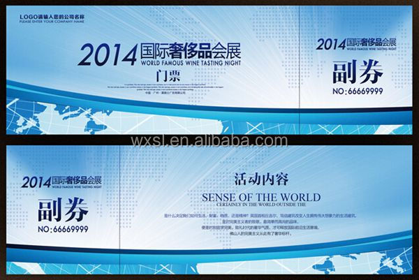 top selling high premium thermal paper admission ticket printing